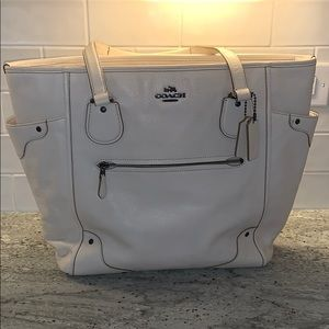 Coach leather tote / travel bag